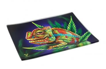 Glas Rolling Tray 'Stoned Chameleon'