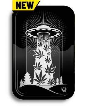Clipper '420 Aliens' Metal Rolling Tray